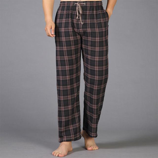 Summer 100% cotton sleep bottoms mens pajama simple sleepwear pants pijamas for male sheer mens pants pyjama trousers plus size