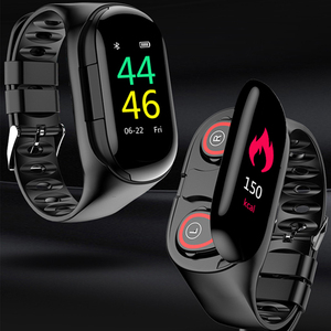 2019 New AI Smart Watch With Bluetooth Earphone Heart Rate Monitor Smart Wristband Long Time Standby Sport Watch Men