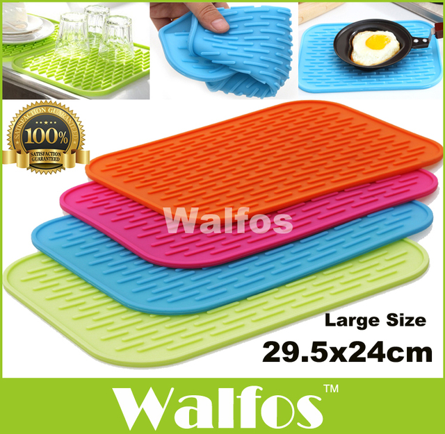 Big Size 11.6×9.5″ Multifunctional Pot Mat Silicone Pot Holder-Large Kitchen Silicone Drying Mat – Dish Drying Mat