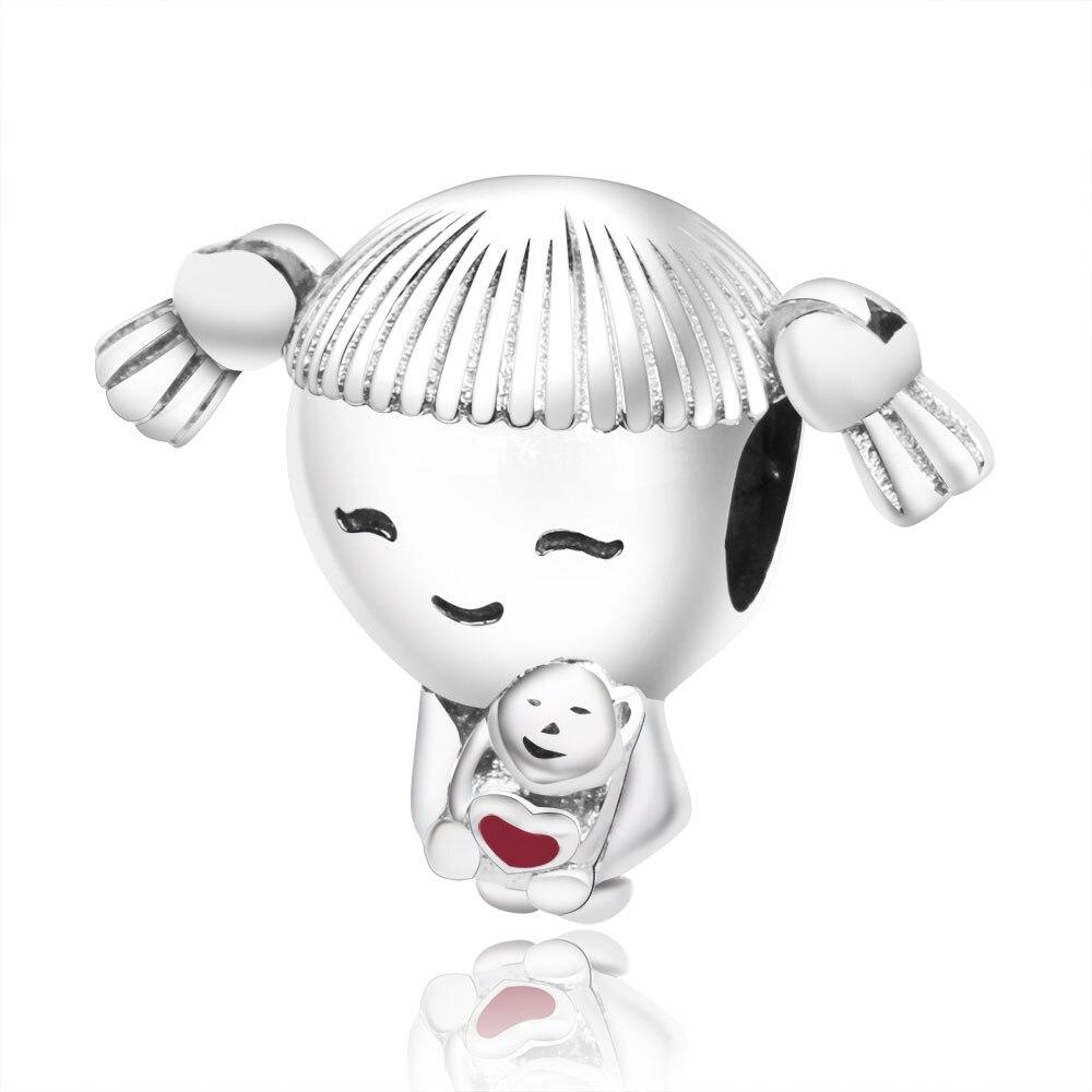 Подходит для оригинальных браслетов Pandora DIY Ювелирные изделия Осенняя коллекция ромашки ажурные шармы 925 пробы серебряные бусины в виде цветка - Цвет: A26