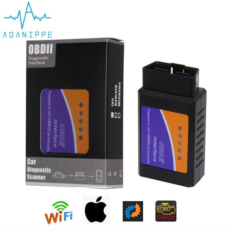 Elm327 Wi-Fi OBD2 V1.5 de diagnóstico escáner automático de coche con la mejor Chip Elm 327 Wifi OBD adecuado para IOS Android/iPhone Nuevo ELM327 USB OBD2 herramienta de diagnóstico de Auto coche ELM 327 V1.5 interfaz USB OBDII CAN-BUS escáner Venta caliente ~
