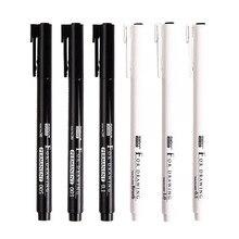 6PCS Marvy Needle Pen 4600 Sketch Pen Drawing Pen Fine Line Pen BRUSH Suit