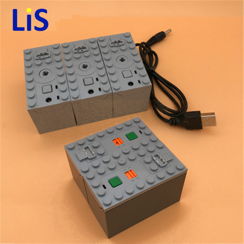 In Stock Technic Series The Power Function Battery Box Genuine Technic Car Motor Compatible With Legoes 8878 8880 8881 Parts