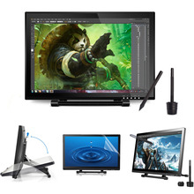 Ugee UG1910B 19 Inch Graphic Drawing Tablet Monitor LED Pen Display with 2 Rechargeable Pens 1 Pieces Protective Film