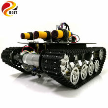 Tracking Obstacle Avoidance Robot Tank Chassis with Arduino UNO R3 Board+Motor Drive Board+IR Obstacle Sensor by APP Phone(China)