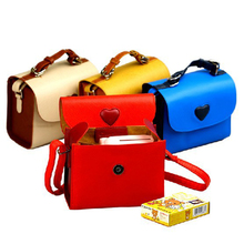 New Love Case PU Pouch Camera Bags With Strap Protector Cover For Fujifilm Instax Mini7S/8/8+/90/25/50S Mirrorless System Camera