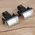 1 Par LED Placa Número de Licença de Luz Da Lâmpada 12 V DC 6000 K para Peugeot 206 207 306 307 406 407 Z3U2 Cor Branca