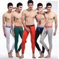 Marca de los hombres calzoncillos largos de los hombres pantalones térmicos cálidos Elástico línea de sexy U convex bolsa pene t-back gay ropa interior apretada legging para hombres