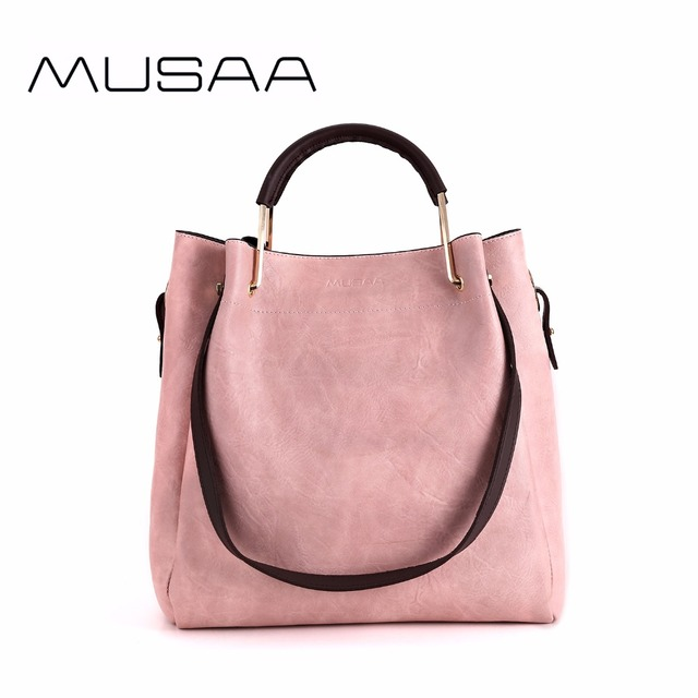 eaabc3415dc1 MUSAA Pink Girl Leisure Shoulder Bags Collocation Leopard Packet Multi  Purpose Shopping PU Leather Composite Bag New Design-in Shoulder Bags from  ...
