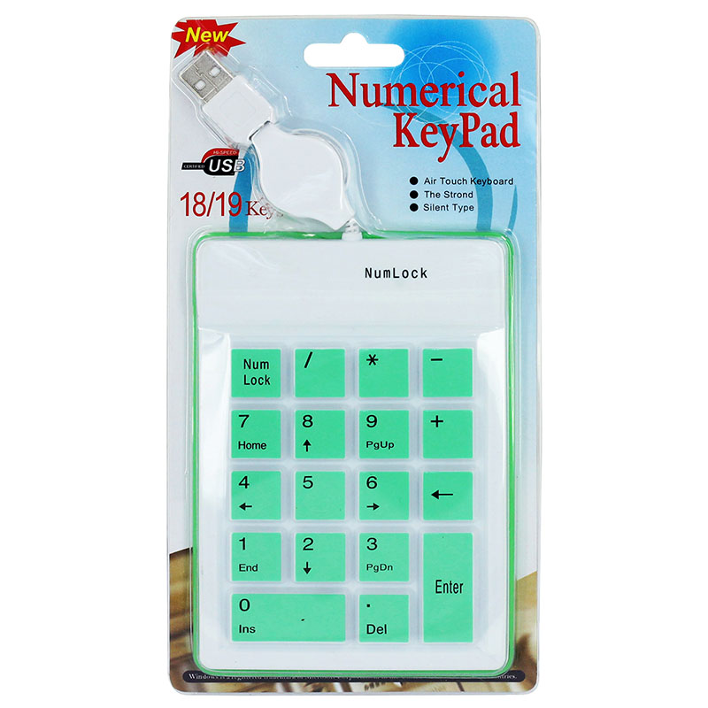 KPC1282_6_18 Keys Silicone Air Touch Numerical Keypad