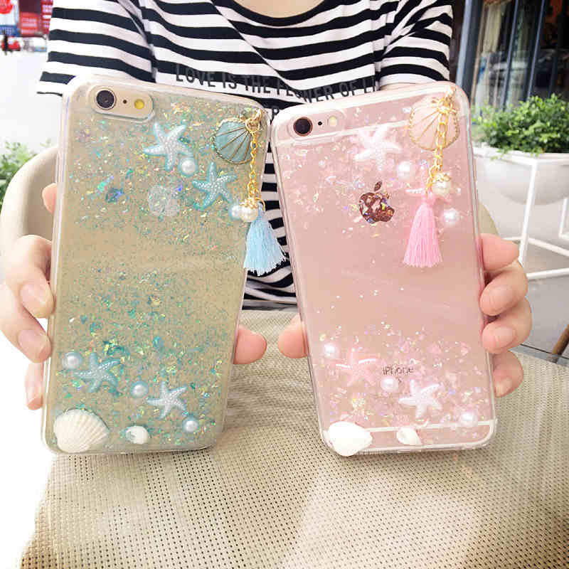 3D Aquarium bing case for iphone 7/7 plus clear soft back cover for iphone6 6s plus case colorful mobile phone shell for iphone7