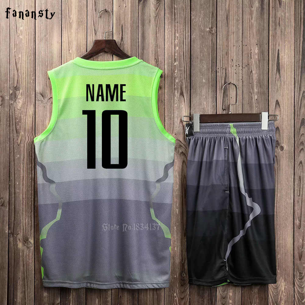 a75780fcf7c ... Men Basketball jerseys Team Sports Suits Breathable Quick dry  Customized kids youth Basketball uniforms set kits ...