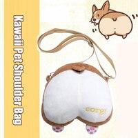 New Arrival Animal Pet Dog Plush Shoulder Bag Harajuku Corgi Butt 3D Crossbody Bags With Claws