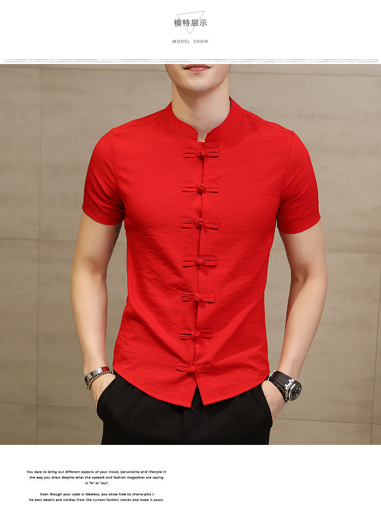 China Men Clothes 2018 Men Shirt Fashion Trend Cotton Linen Camisa Masculina Casual Slim Fit Short Sleeve Dress