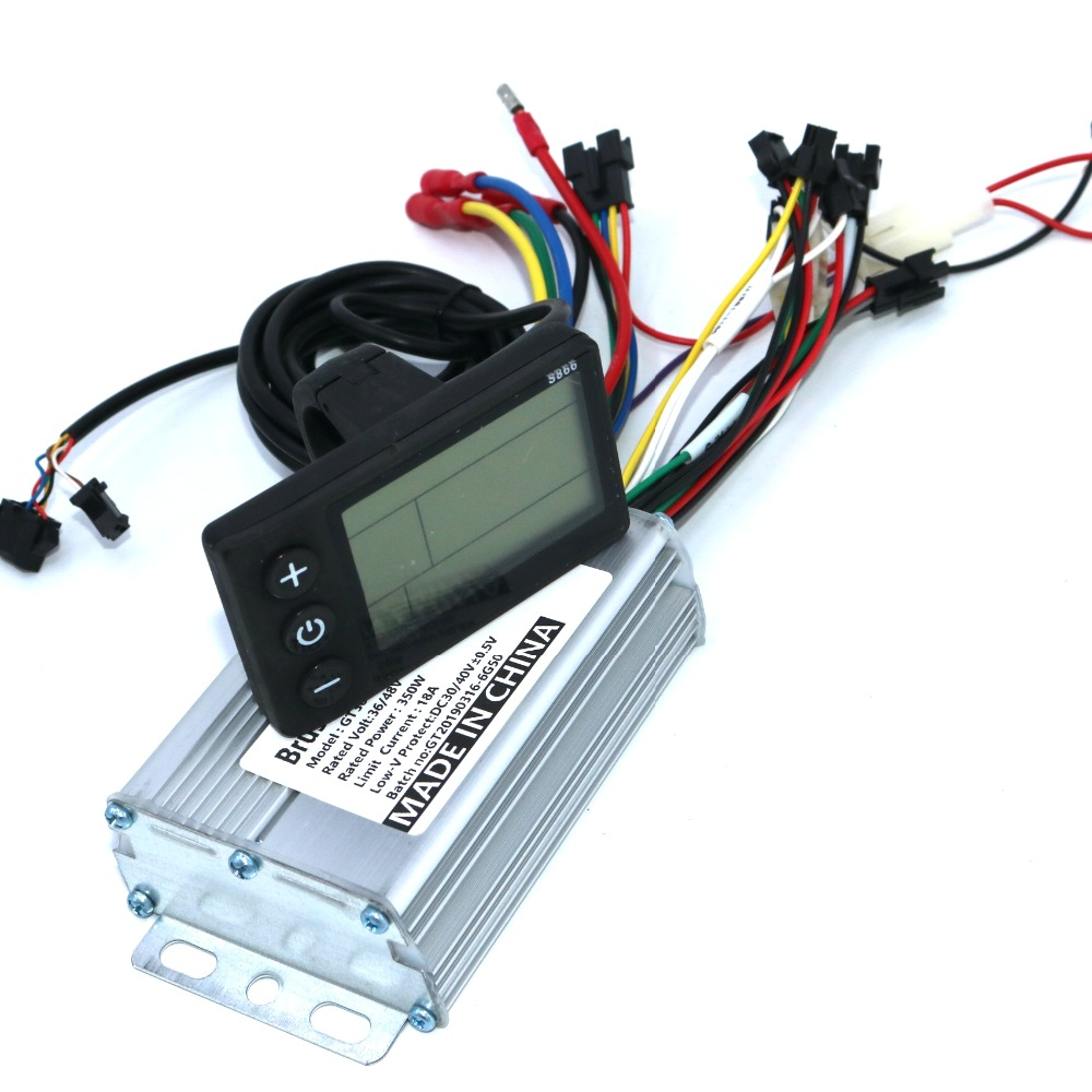 36V 48V 350W 18A BLDC Motor Controller E-bike Brushless Speed Controller And S866 LCD Display One Set