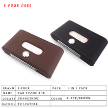E-FOUR High Grand Tissue Box Car Leather Accessories Phone Number Anti-slip Mat Up Grade Level Luxury Stowing Tidying