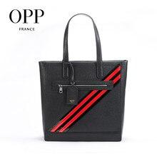 OPP Men's Business Casual Handbag Leather Fashion Leather Briefcase Versatile Hand
