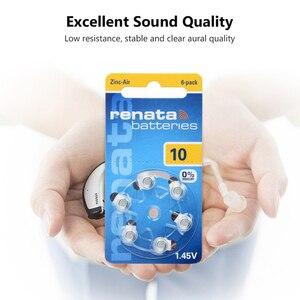 Image 4 - 6個1.45v A10 ZA10 PR70 10AE P10バッテリー補聴器用電池10 p10 PR70亜鉛空気ボタン電池補聴器用
