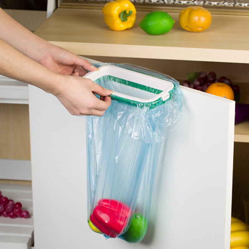 YONTREE 1 Pc Mini Portable Plastic Door Garbage Trash Bag Can Rack Holder Kitchen Tool Cheap Price