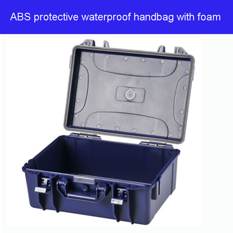 High Quality Protective Waterproof ABS Case Tool Case Handbag Toolbox 415*335*180 Mm Security Equipment With Foam Lining