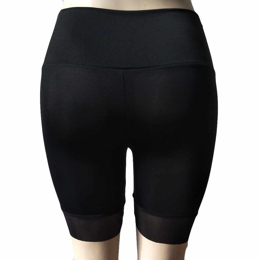 Plus rozmiar lato wysokiej talii Sexy szorty dla kobiet koreański styl seksowne krótkie spodnie kobiety czarny Sexy Biker kobiet spodenki 2019 Spodenk