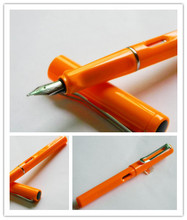 Jinhao High Quality White Medium Nib Orange Lamy Style Fountain Pen JINHAO 599(China)