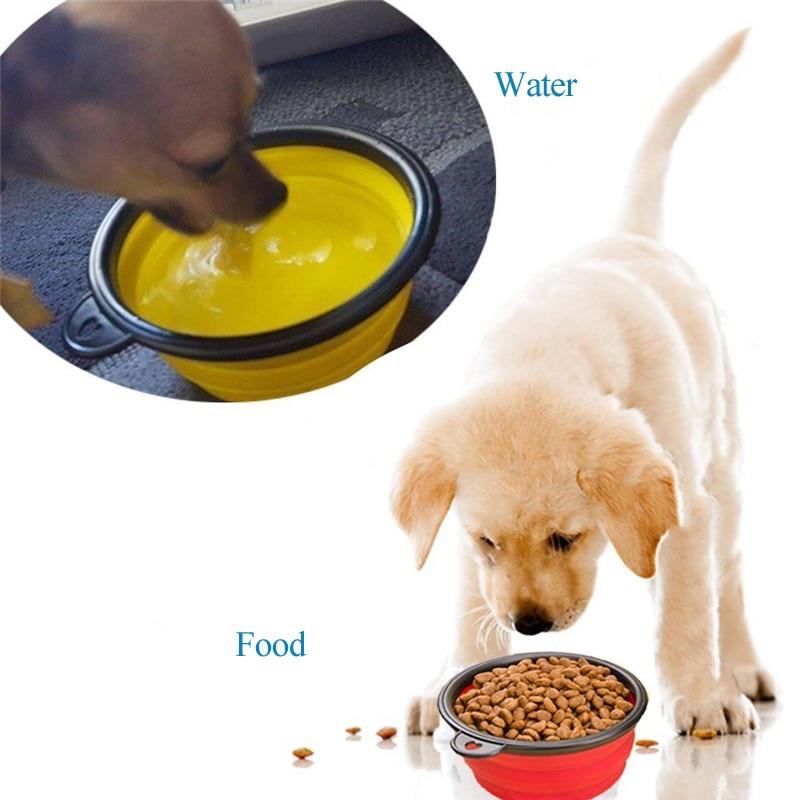 Distributeur eau et de croquettes de voyage pour chat ou chien 2 en 1
