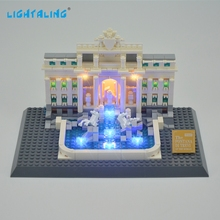 Lightaling LED Light Kit For Trevi Fountain Compatible With Brand 21020 Building Blocks Bricks Architecture Light Toys
