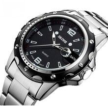 Hommes montre-bracelet à quartz montre en acier inoxydable plein montre mans mode casual de montre Hommes Robe relogio masculino 7147