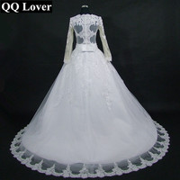 2017 The Latest Amazing Back Good Quality Lace Long Sleeve Wedding Dresses Custom made Plus Size Vestido De Noiva Bridal Dresses