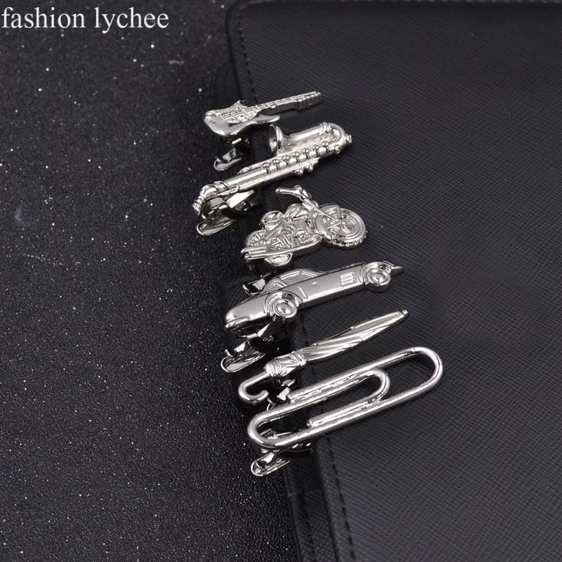 Jewelry Clip-Pin Guitar Tie-Bar Clasp Car-Umbrella Necktie Wedding-Tie Metal Fashion
