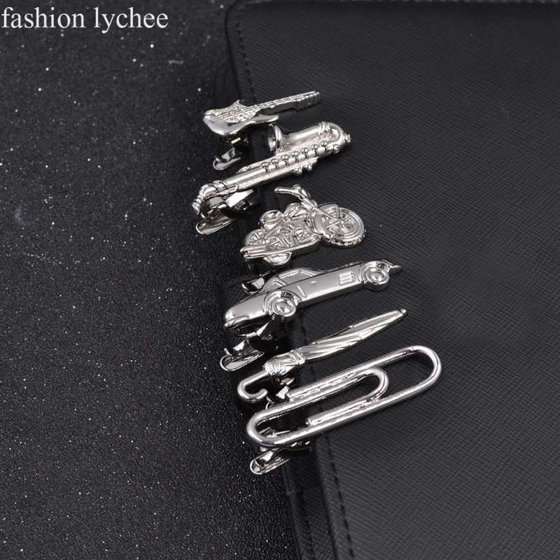 3c5fe65a3f28 fashion lychee Metal Men Tie Clip Gentlemen Classy Necktie Tie Bar Clasp  Clip Pin Guitar Car