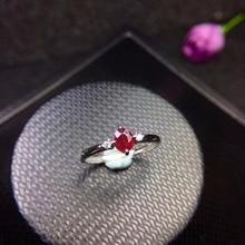 Bague en rubis naturel pour femmes, promotion, nouvelle boutique, bonne mosaïque en argent 925, recommandée pour explosion