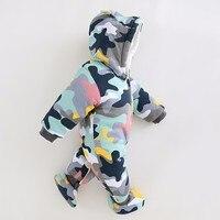 2019 חדש תינוק Rompers חורף עבה חם תינוק ילד בגדים ארוך שרוול סלעית סרבל ילדים יילוד להאריך ימים יותר עבור 0- 18 M