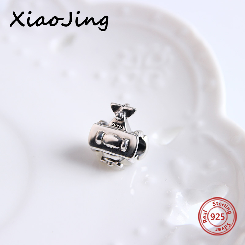 2017 925 sterling silver beads The Wright brothers Charm Beads Fit pandora pandora charms Bracelets Pendants jewelry for Gifts in Beads from Jewelry Accessories