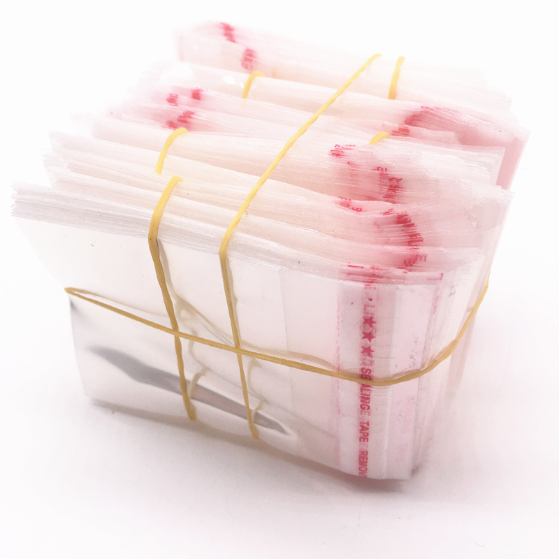 100pcs 5x7cm Resealable Poly Bag Transparent Opp Bag Plastic Bags Self Adhesive Seal Jewellery Making Bag