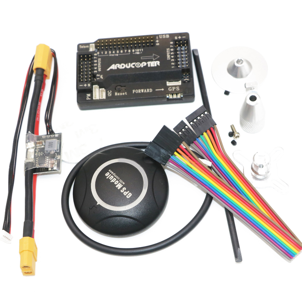 цена на 1Set APM 2.8 ArduPilot Mega Internal compass APM Flight Controller Built-in Compass with 7M GPS for FPV RC Drone