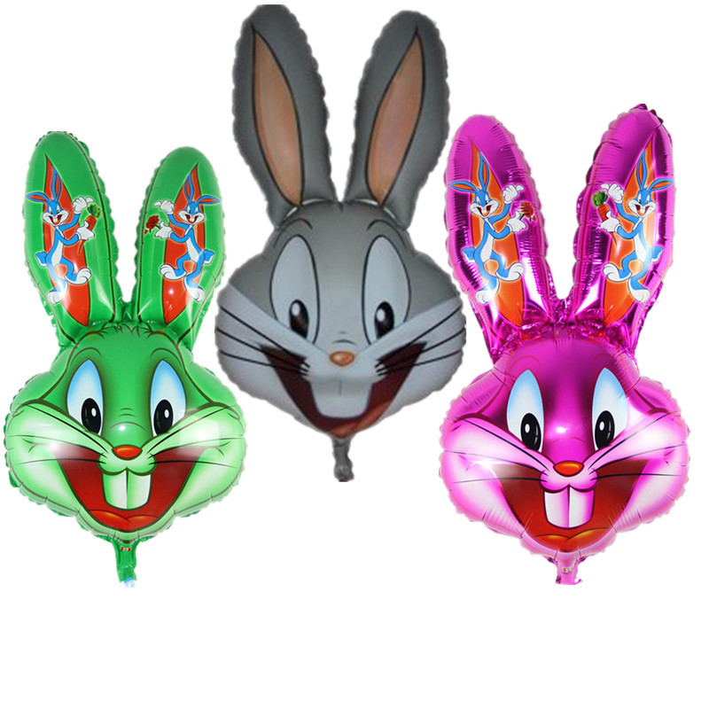Bugs Bunny Rabbit Head Foil Animal Balloons Cartoon Looney Tunes Animal Ballons Children Classic Toys easter decoration in Ballons Accessories from Home Garden