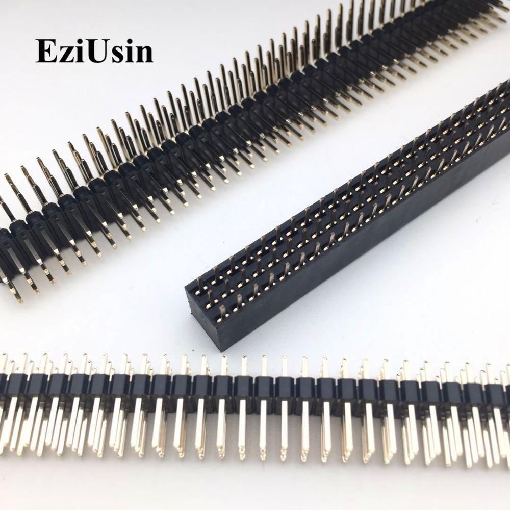 2.54 3*40 Three Row Male Female 90 Degree Right Angle R/A Breakaway PCB Pin Header Socket Connector Pinheader 3x40p