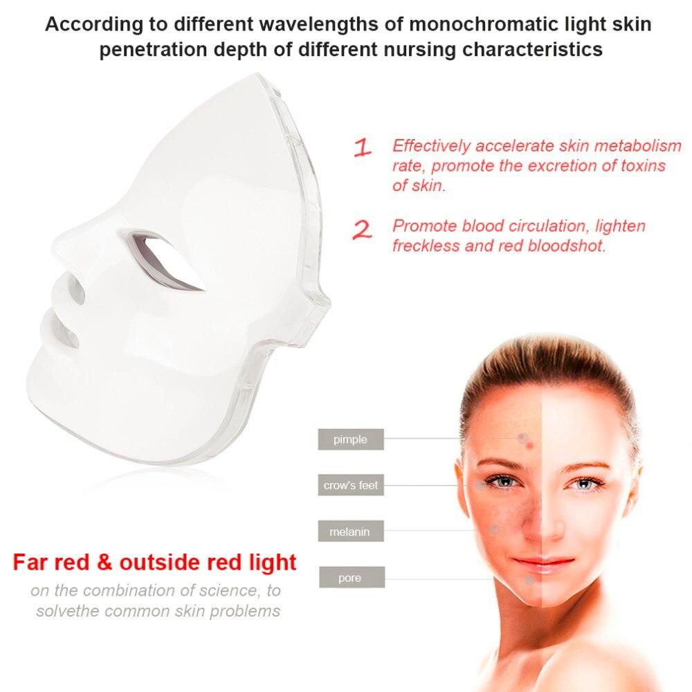 Coréen photodynamique LED masque Facial usage domestique Instrument de beauté Anti acné peau rajeunissement LED photodynamique beauté masque