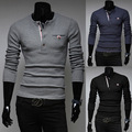 2014 New Spring Brand  Classical Casual Solid Color O-neck Slim fit Mens Sweaters Fashion Cardigan Man Clothing M-XXL