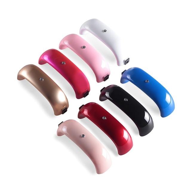 9 W מנורת LED רב צבע נייד מיקרו USB כבל בית שימוש ציפורניים ג 'ל לכה אשפרה מכונת מיני USB מנורת נייל כלי