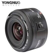 100% Original Yongnuo 35mm YN35mm F2 lente Grande-angular lente Grande Abertura fixo Auto Focus Lens Para canon EF Montagem para a Câmera EOS