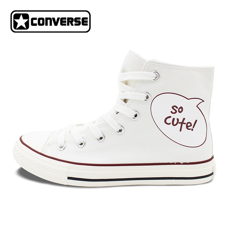Design Panda Canvas Shoes Sneakers Men Women Converse Original Skateboarding Shoes High Top All Star Brand converse all star high top shoes for men women dreamcatcher design flats lace up canvas sneakers for gifts