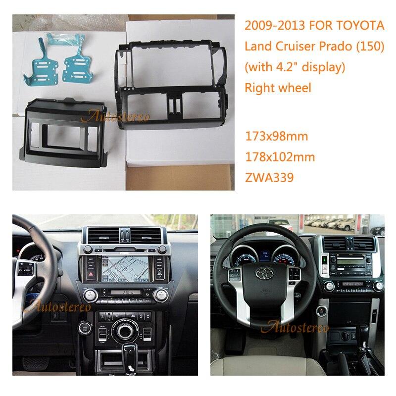 zw11-339 Car Radio Fascia multimedia Frame Kit For TOYOTA Land Cruiser Prado (150) 2009-2013 with 4.2 display Facia Panel Trim