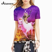Raisevern New Animal Print 3D T Shirt Tiger Wolf Dinosaur Cat Panda Dog Novelty T Shirt