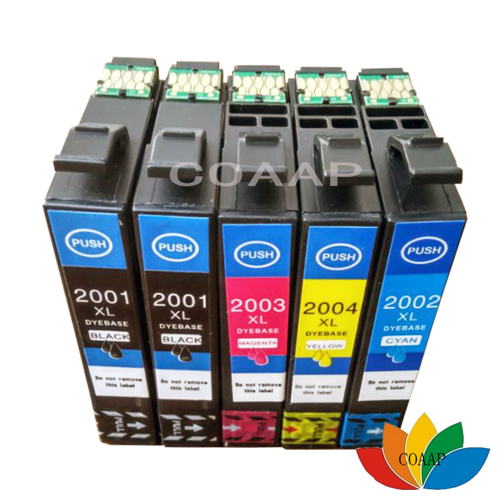 5x T200 XL Ink Cartridge Fit WF2510 WF2520 WF2530 XP200 XP300 XP400 XP310 XP410 Printer