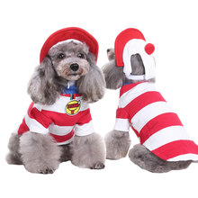 New Arrival Christmas Baby Suit With Hat Pet Costume for Dog Cat Role Play Clothes for Christmas Halloween Costume for a Cat Dog(China)