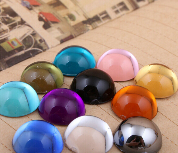 5000pcs Bag 6mm Jelly Flat Back Half Round Acrylic rhinestones ... 5ad416ba9082