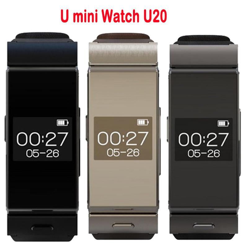 Uwatch U MINI Bluetooth Smart Watch BT4 0 Earphone Sleep Monitor Leather Straps font b Smartwatch